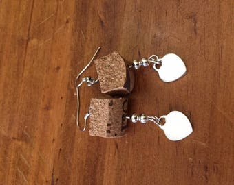 earrings, steel, recycling, Cork, accessories,