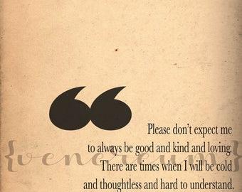 Sylvia Plath Quote Print