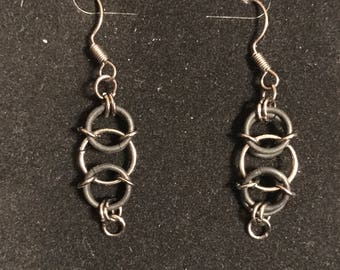Black matte earrings