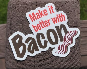 Riley's 66 - Make it Better with Bacon - Lot of 3 Stickers