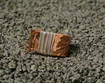 copper and fine silver ring