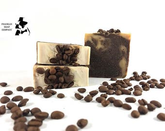 Lathering Java Soap, coffee soap