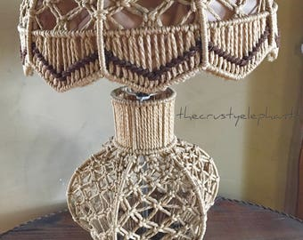 Macramé Table Lamp Bohohemian Hippie Boho Retro
