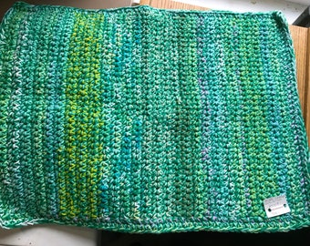 Handcrafted Cotton Rug or Bath Mat 24 X 18