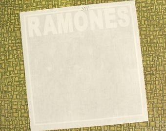 Ramones 1st album heat press transfer iron on for t-shirts, sweatshirts
