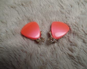 1950's Thermoplastic Earrings with Fabulous Color