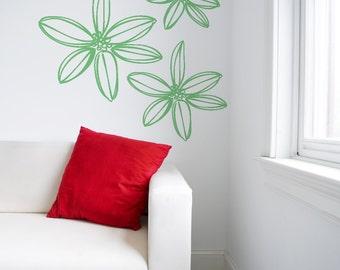 Celebrate Flower Vinyl Decal size LARGE - Office Decor, Home Decor, Child Decal, Children's Flower,Nursery Decor, Baby Flower, Bedroom Decal