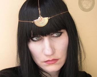 SUPER SALE Sun Ra Art Deco Chain Headpiece Head chain Headdress