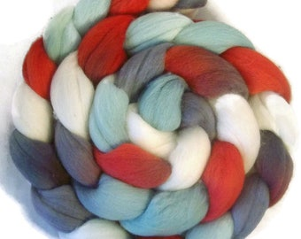 Handpainted Superfine Merino Wool Roving - 4 oz. CATHERINE - Spinning Fiber