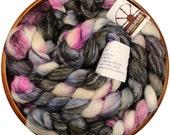 Voodoo - hand-dyed Merino wool / bamboo / silk (4 oz.) combed top roving