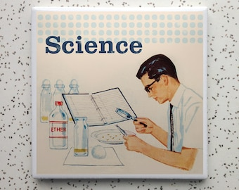 Vintage Science Tile Coaster