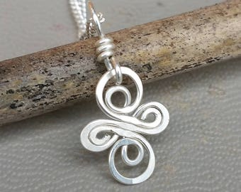 Tiny Little Celtic Knot Cross Pendant, Sterling Silver Infinity Swirl Celtic Necklace, Celtic Jewelry, First Communion, Confirmation, Women