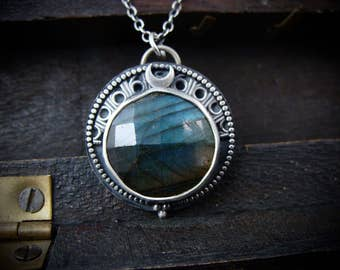 in her orbit … labradorite pendant