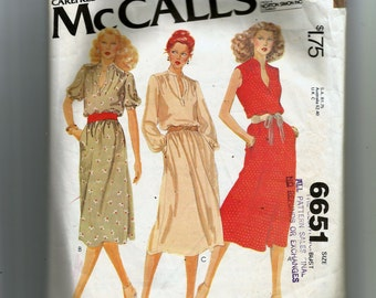 McCall's Misses' and Women's Dress Pattern 6651