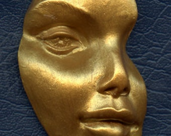 Polymer Clay Golden  Face Shard  ADFD 1