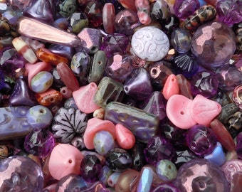 Purple Bead Soup Mix  - Czech Glass Beads 25 grams from Mountain Shadow