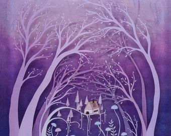 into the woods - print