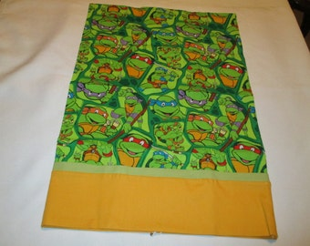 Pillowcase, Ninja Turtles, travel size, home and living, bedding, handcrafted, sheets and pillowcases, cartoons, children, boys, girls,