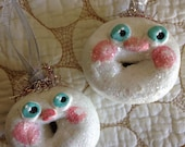 Anthropomorphic Donut Ornaments by calamity kim