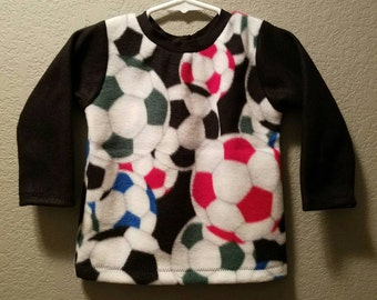 Toddler boy Handmade fleece sweatshirt top!  Size 2/3! So cozy!!