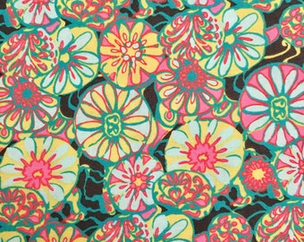 Amy Butler True Colors Daisy Shine Green Cotton Fabric By the Yard
