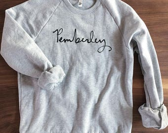 ONLY ONE - Pemberley sweatshirt - unisex size Large - Jane Austen - Pride and Prejudice