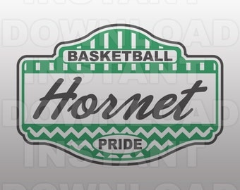 Basketball Hornet Pride SVG File -Commercial & Personal Use- Vector Art SVG For ...
