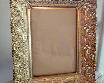 Vintage Metal Filigree 5X7 Frame
