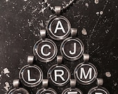 Initial Of Your Choice Pendant - Faux Typewriter Key -
