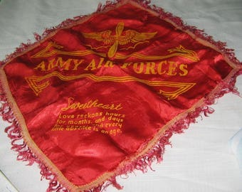 Army Air force vintage sweetheart pillow cover