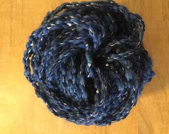 Hook a Starry Night with this Hand Spun Yarn
