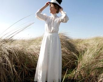 Edwardian Linen Blouse Size Small