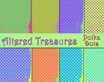 Polka Dots Digital Paper Pack