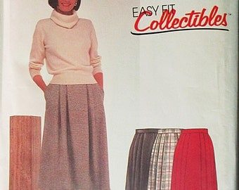 1980s Vintage Sewing Pattern McCalls 2152 Misses Skirt Pattern Size 12 Uncut