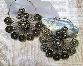 Gorgeous Miao Hill Tribe Earrings / Ear Weights
