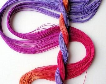 "Size 40 ""Corsage"" hand dyed thread 6 cord cordonnet tatting crochet cotton"