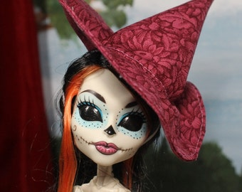 Ruby Bloom Witch Hat for Slim Monster and Fashion Dolls