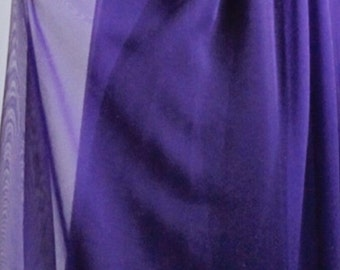 "Plum polyester chiffon fabric 60"" wide 81160 bridal special occasion"