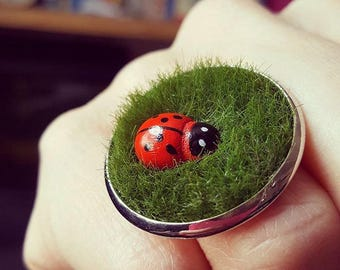 Ladybird on the Lawn Ring