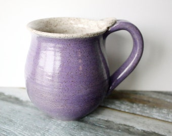 Speckled Light Purple Pottery Mug - 14 oz  Coffee Cup - Ready to Ship Ceramic Cup
