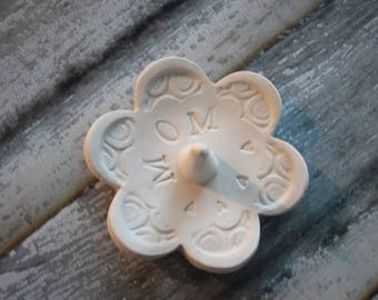 Mom ring dish - Gift for Mom - Keepsake Ring Dish -  to be Glazed in lilac purple - Gift box included