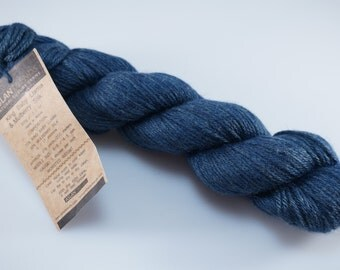 Aslan Trends - King Baby Llama & Mulberry Silk - Color Navy - 6 Skeins Available - Worsted Weight Yarn (Stock #203)