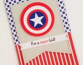 Avengers Birthday Card, Superhero Birthday Card, Cards for Kids, Boys Birthday Card, Captain America Card,READY TO SHIP