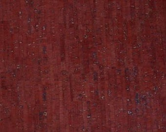 Eversewn CORK FABRIC - Red with Dark Flecks - Size Options