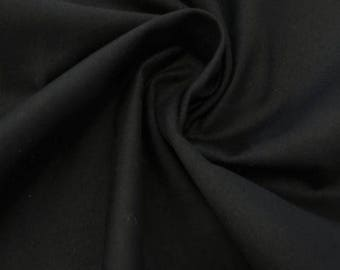 Designer Closeout FABRIC - Stretch Sateen - Black Solid