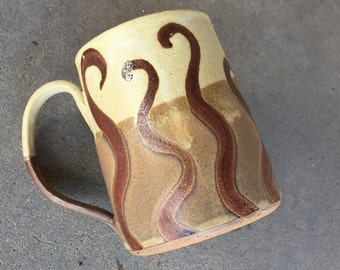 Coffee mug, tea cup, handmade pottery mug