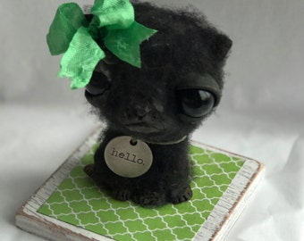 Happy kitty Ooak   art doll