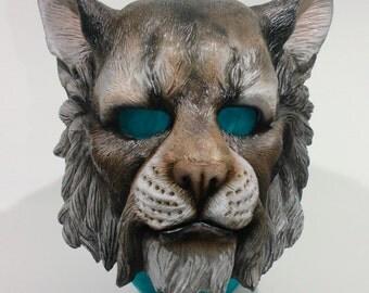 Handpainted Large Cat Khajiit Mask