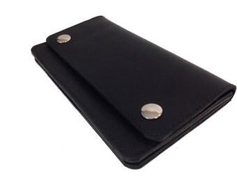 Leather Trucker Style Wallet