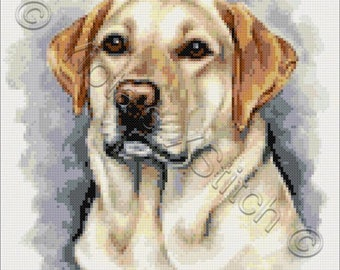 Golden labrador No3 counted cross stitch kit